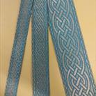 Галуны 2, 3, 5.5 см голубой с серебром