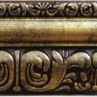 Багетный карниз Сонет, цв. античное золото