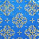 Кострома голубой/золото