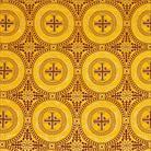 Коринф желтый/золото/т.вишня